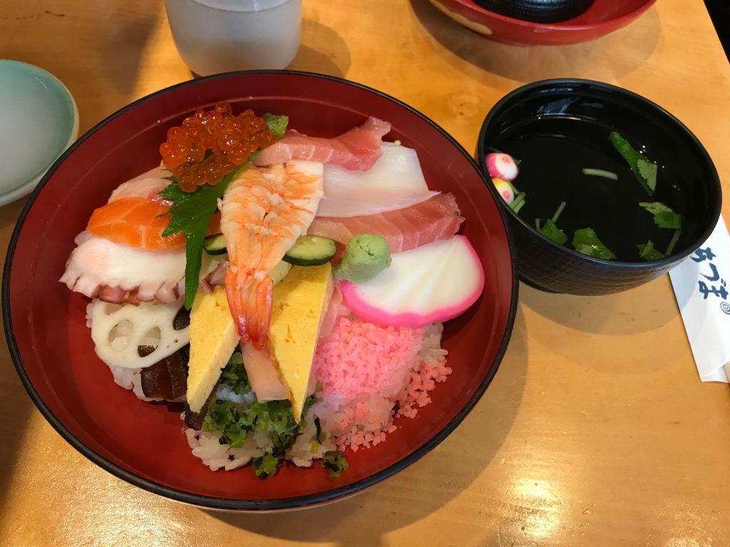 Japanese rice bowl in Tokyo