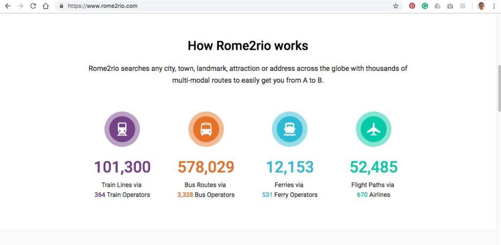 how Rome2Rio travel website works