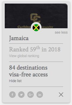 how strong is jamaican passport